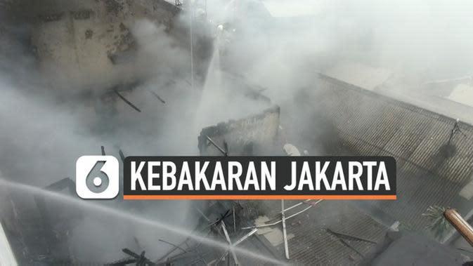 VIDEO: Gara-Gara Bakar Sampah, Rumah di Kemayoran Terbakar