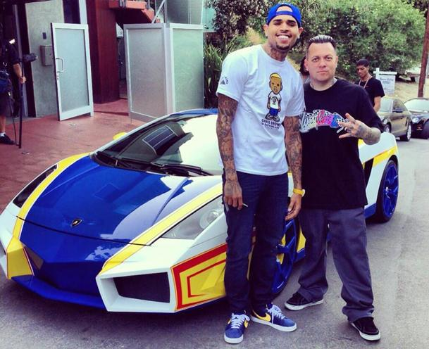 "Chris Brown remixes a Lamborghini with West Coast Customs into ""El Toro"""