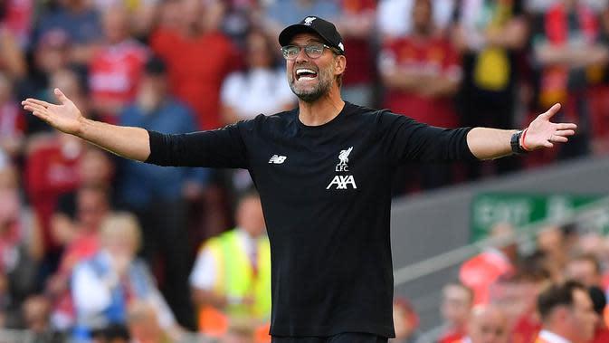 Pelatih Liverpool, Juergen Klopp. (AFP/Ben Stansall)