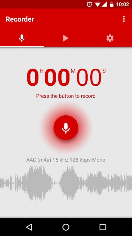 Voice and audio recorder app