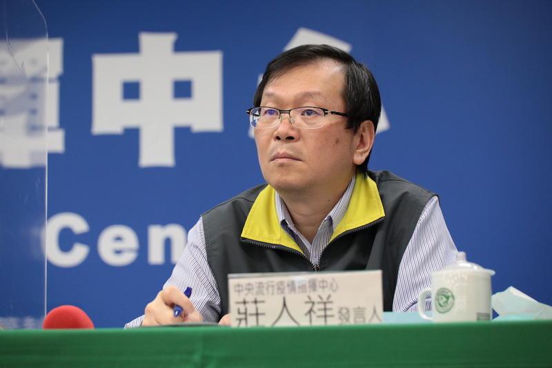 衛生福利部疾病管制署副署長兼發言人莊人祥。圖:中央流行疫情指揮中心/提供(資料照片)