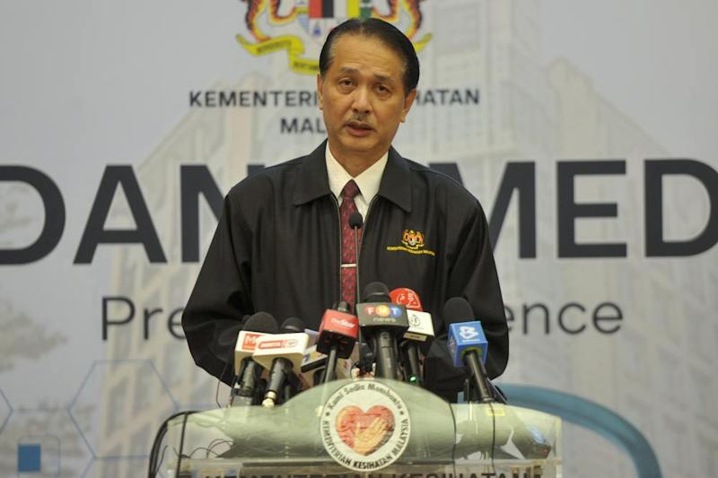 Health director-general Datuk Dr Noor Hisham Abdullah said Malaysia remains vulnerable to imported Covid-19 cases that could become new local clusters after one patient who returned from Italy caused 37 other infections. ― Picture by Shafwan Zaidon