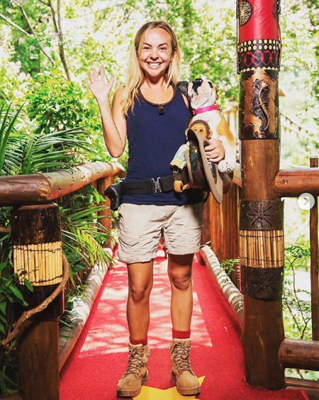 Angie Kent in a promo shot for I'm a Celebrity... Get Me Out Of Here!