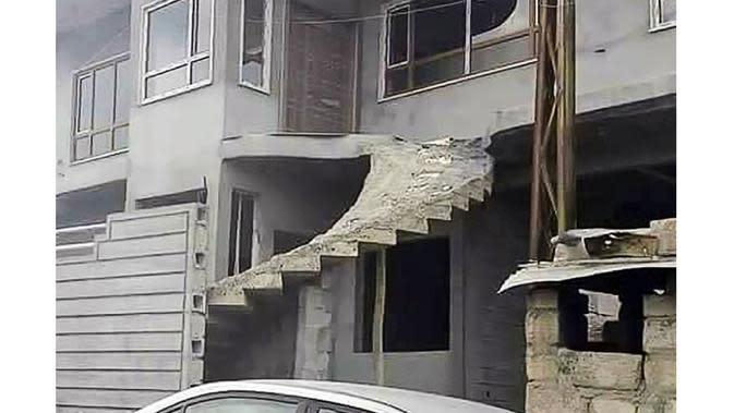 Hasil akhir dari renovasi rumah yang aneh