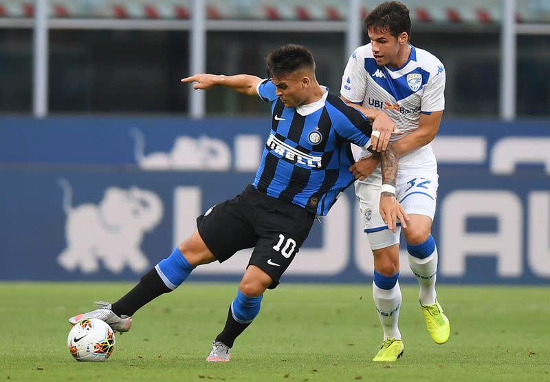 Sanchez inspires Inter to 6-0 triumph over Brescia