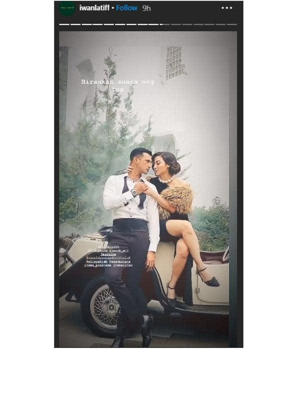 Prewedding Ali Syakieb dan kekasih (Sumber: Instagram/iwanlatiff)