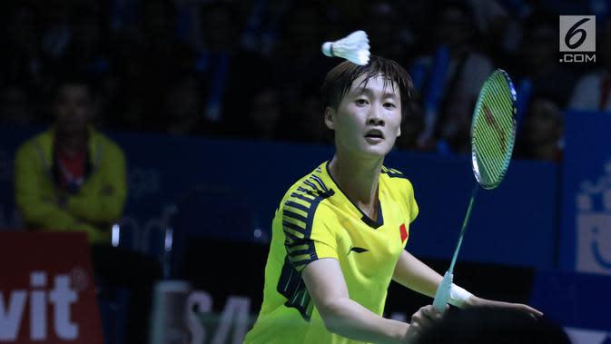 Tunggal putri China, Chen Yufei. (Liputan6.com/Helmi Fithriansyah)