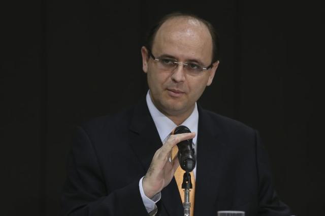 O ministro da Educação, Rossieli Soares, no lançamento do Programa de Apoio à Inovação em Educação nas Instituições de Ensino Superior Privadas.