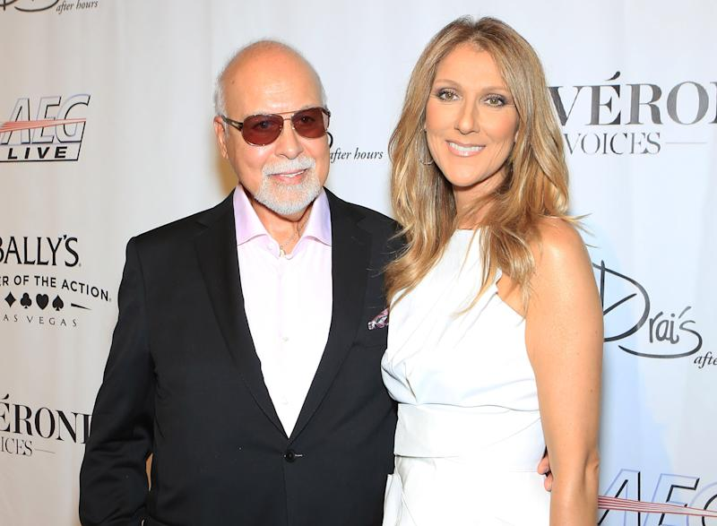 Angélil and Dion in 2013. Image via Getty Images.