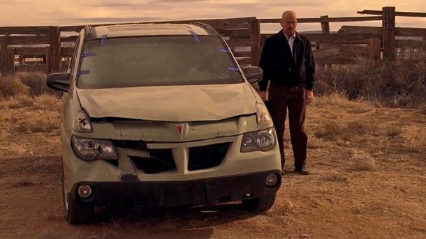 "Walter White's Pontiac Aztek can menace your driveway in ""Breaking Bad"" prop auction"
