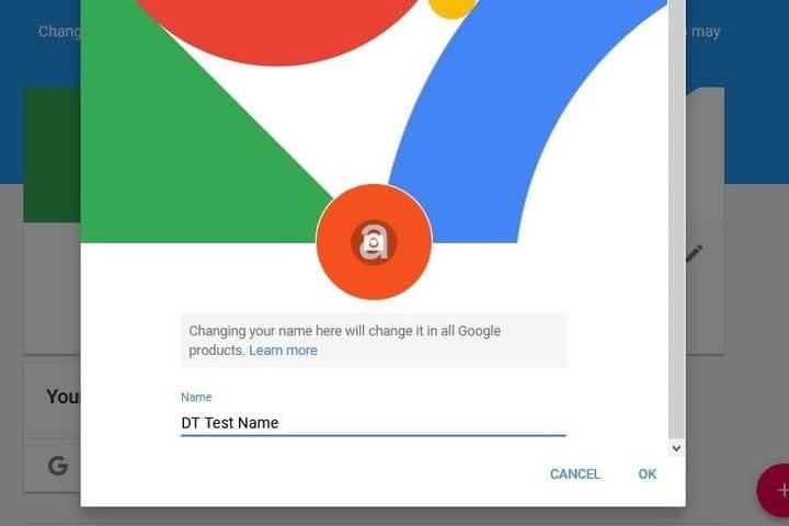YouTube Brand Account Change Name Screenshot
