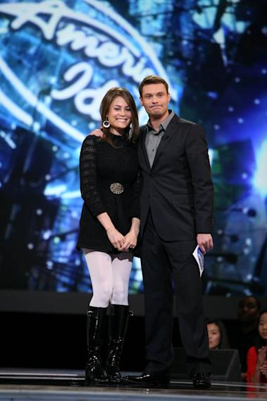 Amy Davis is eliminated from the 7th season of American Idol.