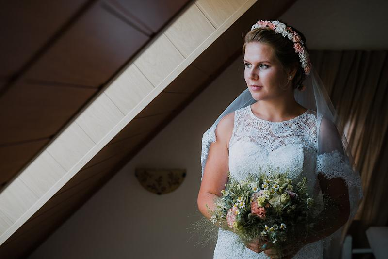 Kaja Bronowska in her wedding dress. [Photo: Kaja Bronowska]