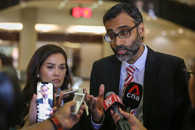 Lawyer N. Surendran speaks to reporters at the Kuala Lumpur High Court Complex January 24, 2020. — Picture by Yusof Mat Isa