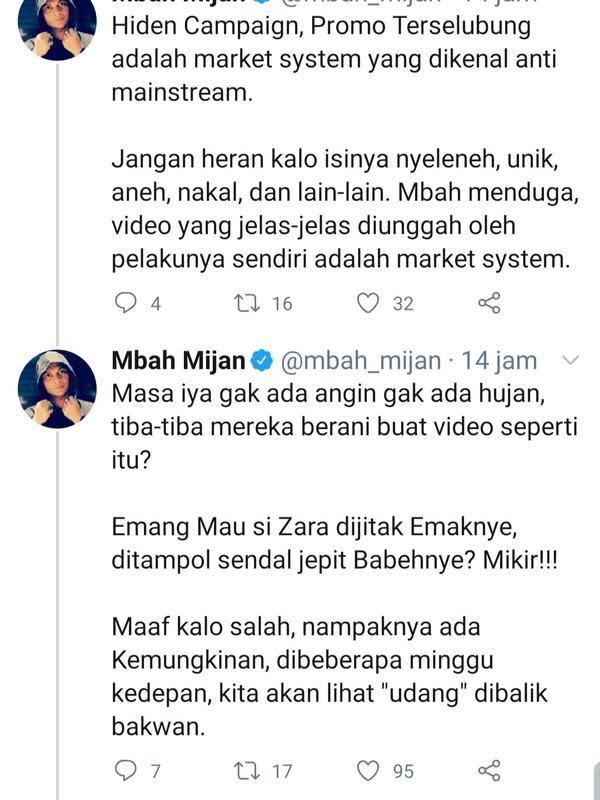 Unggahan Mbah Mijan. (Foto: Twitter @mbah_mijan)