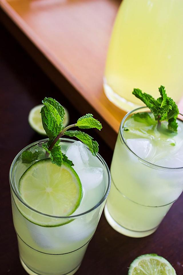 """<p>Nothing is more refreshing than a glass of lemonade on a hot day—except for one that's infused with mint.</p><p><strong>Get the recipe at <a href=""""https://www.hotbeautyhealth.com/food/kentucky-derby-recipe-mint-julep-lemonade/"""" target=""""_blank"""">Hot Beauty Health</a>. </strong><br></p>"""