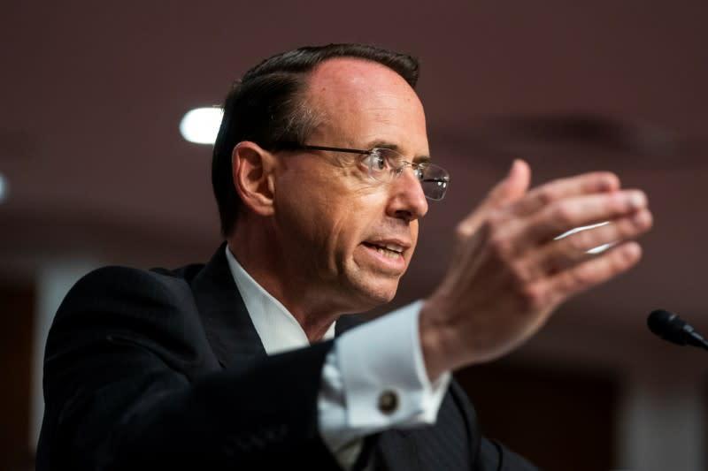 Rosenstein testifies in Republican-led Senate Trump-Russia probe