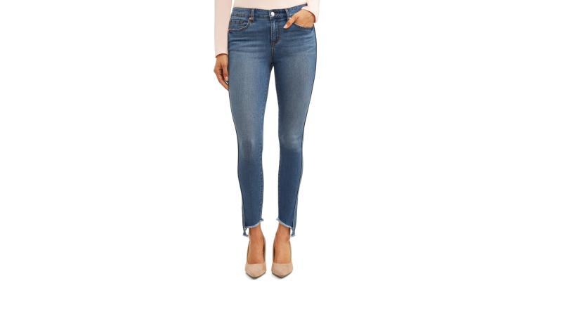 Sofia Skinny Twisted Seam Mid Rise Stretch Ankle Jean. (Photo: Walmart)