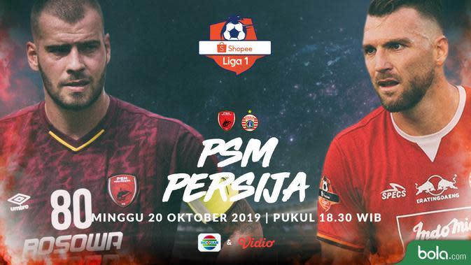 Shopee Liga 1 - PSM Makassar Vs Persija Jakarta - Head to Head Pemain (Bola.com/Adreanus Titus)