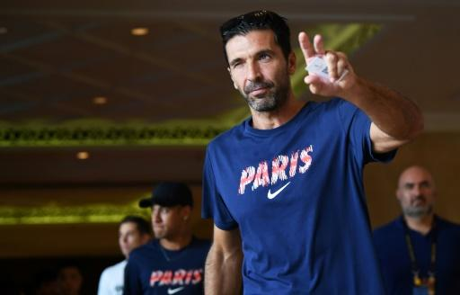 Gianluigi Buffon is 40 now but is hoping to be PSG's number one goalkeeper