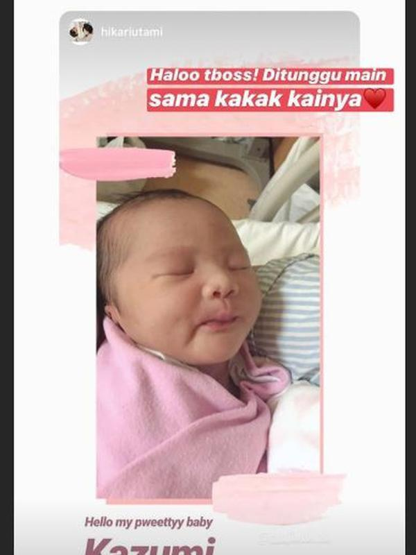 Potret Putri Pertama Ryuji Utomo, Resmi Jadi Ayah (Sumber: Instagram/sharinaautomo)