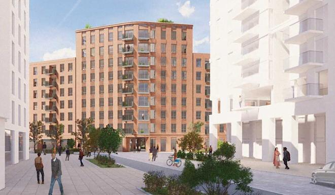 An artist's impression of a boulevard in Convoys Wharf. Photo: Convoys Wharf
