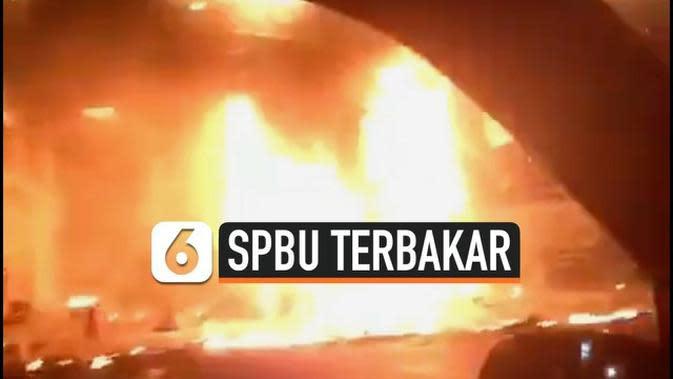 VIDEO: Rekaman Mobil Modifikasi Sebabkan Kebakaran Pom Bensin di Wonosobo
