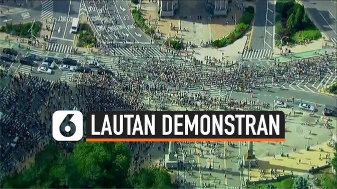 VIDEO: Ribuan Demonstran di AS Kembali Turun ke Jalan