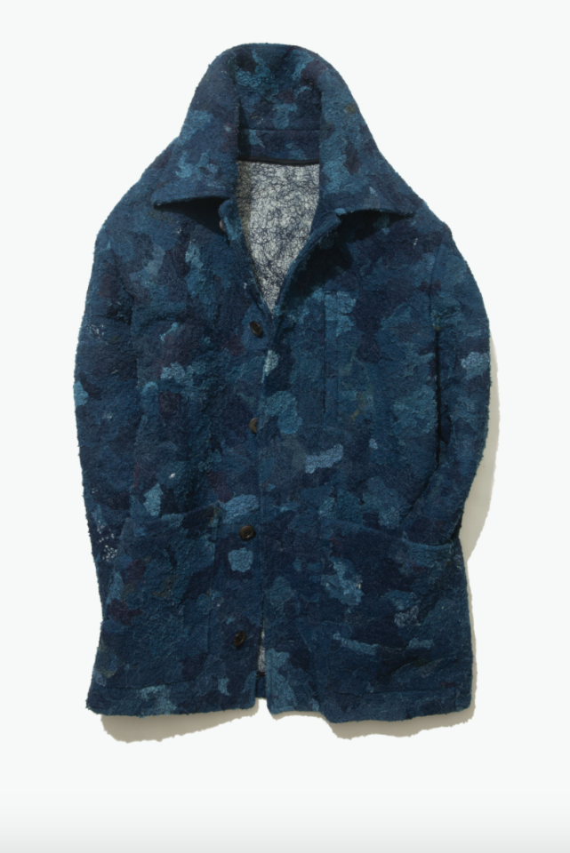 """<p><strong></strong></p><p>stoffa.co</p><p><strong>$1400.00</strong></p><p><a href=""""https://stoffa.co/products/edition-002-chindi-chore-coat-indigo"""" target=""""_blank"""">Shop Now</a></p>"""