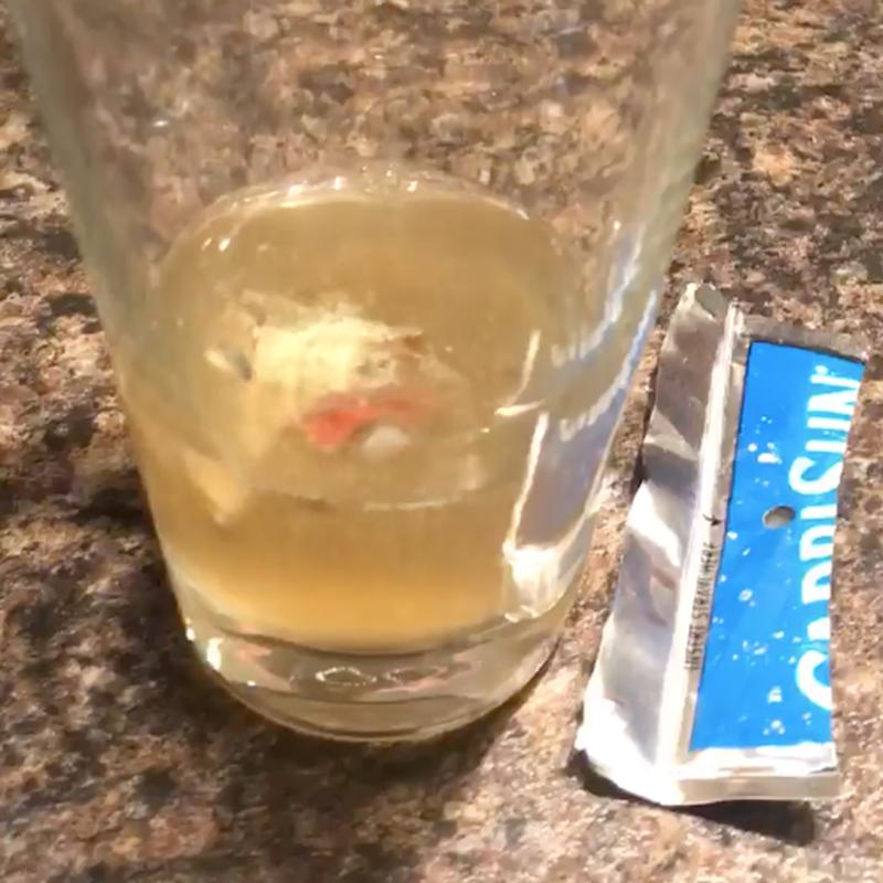 The Indiana father posted about the mould inside the Capri Sun juice pack on Facebook.