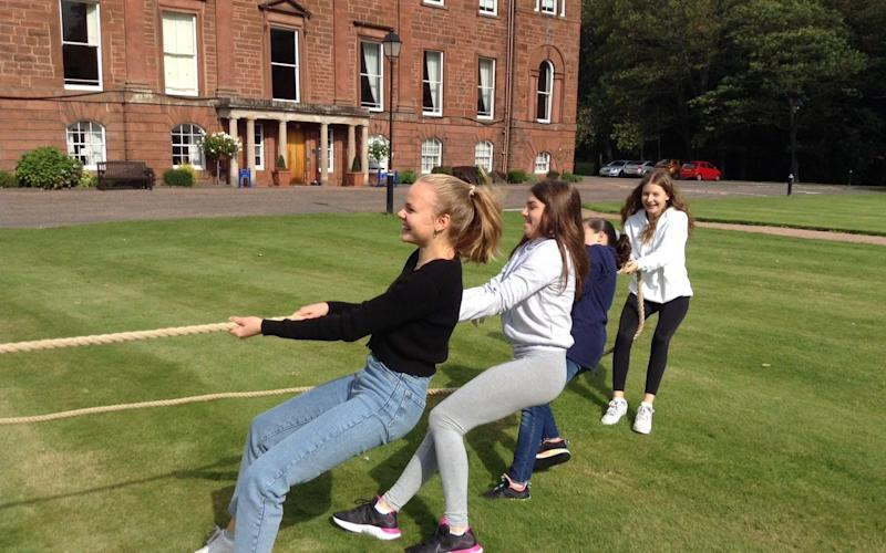 Pupils enjoy tug of war at Kilgraston - Kilgraston/Kilgraston