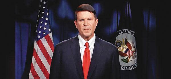 美國國務院次卿克拉奇17日訪台,再創美國高級官員訪台記錄。(翻攝克拉奇推特)
