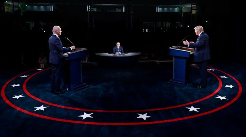 Audience for Trump-Biden debate falls short of 2016 record