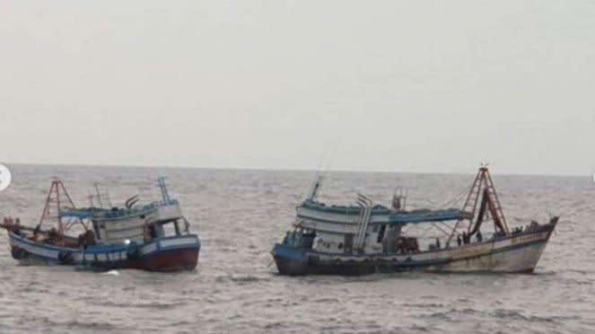 VIVA Militer : Dua kapal berbendera Vietnam ditangkap KRI John Lie-358