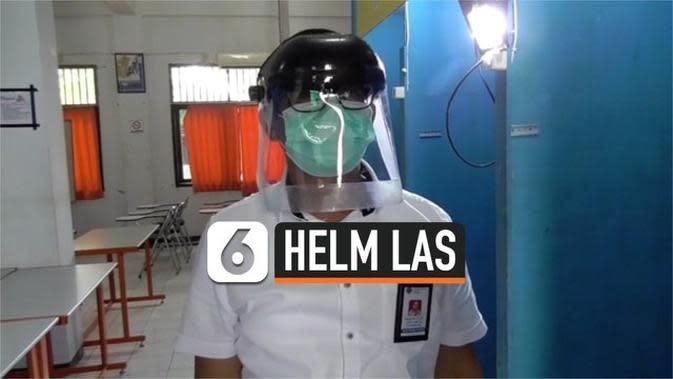VIDEO: Pegawai BLK di Sorong Ubah Helm Las jadi APD Medis