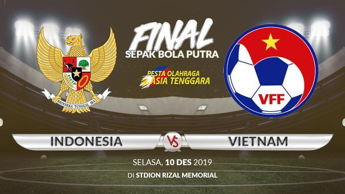 Final Sepak Bola Putra SEA Games 2019: Indonesia vs Vietnam. (Bola.com/Dody Iryawan)