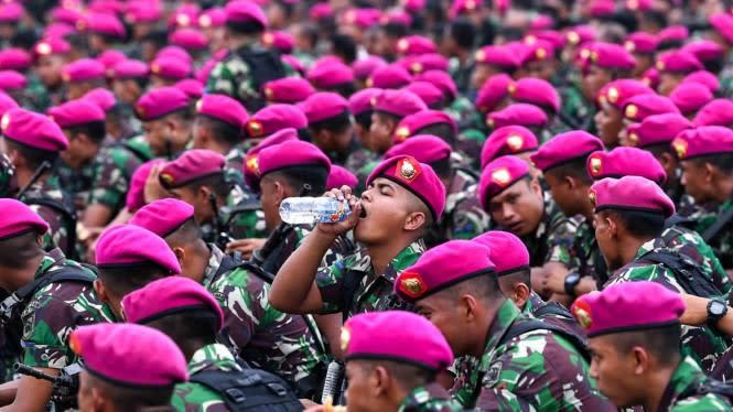 Gelar Razia, Handphone Pasukan Marinir Bersih dari Aplikasi Tiktok