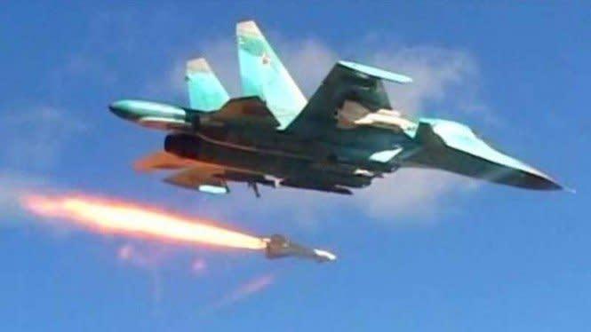 Angkatan Udara Rusia Lancarkan Serangan Besar-besaran ke Suriah