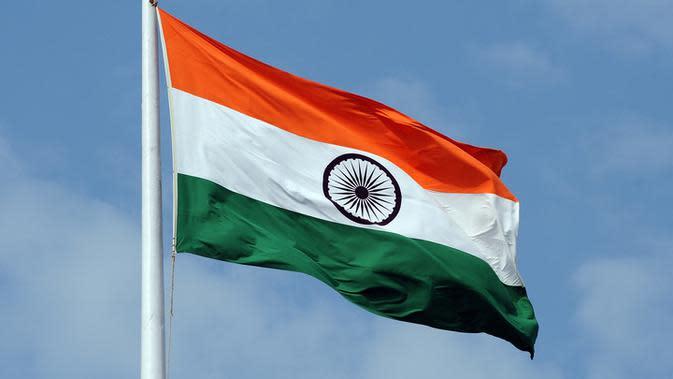 Ilustrasi bendera India (AFP Photo)