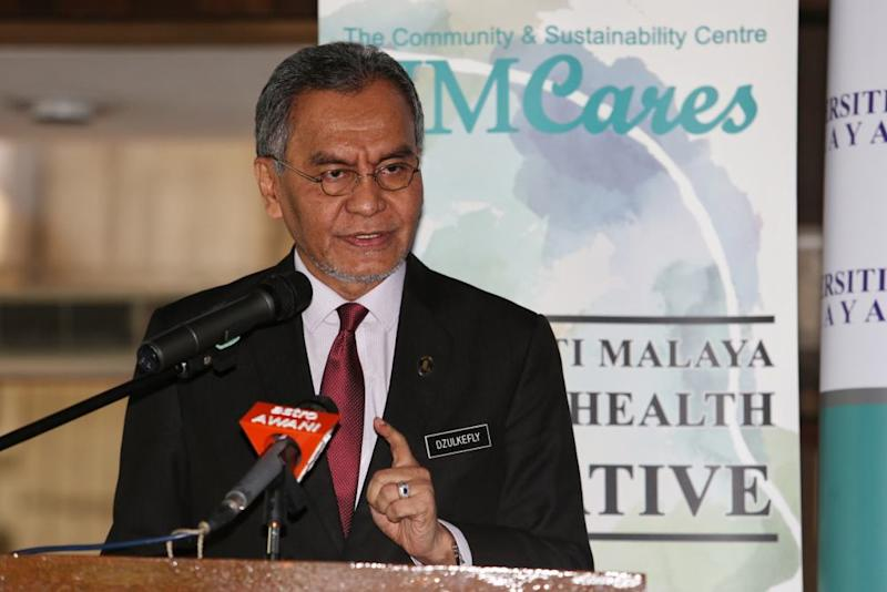 Health Minister Datuk Seri Dzulkefly Ahmad says ongoing tests for Covid-19 on the passengers and crew of the MV Genting Dream cruise ship anchored in Port Klang were all negative so far. ― Picture by Choo Choy May