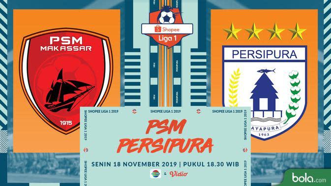 Shopee Liga 1 - PSM Makassar Vs Persipura Jayapura (Bola.com/Adreanus Titus)