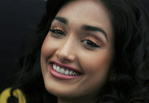 "FILE - In this Dec. 19, 2008 file photo, Bollywood actress Jia Khan smiles during a promotional event of her forthcoming Hindi movie ""Ghajini"" in Bangalore, India. Police said the son of a Bollywood couple was arrested Monday, June 10, 2013 on suspicion of abetting the suicide of Khan. (AP Photo/Aijaz Rahi, File)"