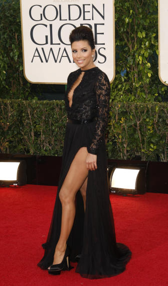 """Actress Eva Longoria of the TV series """"Desperate Housewives"""" at the 70th annual Golden Globe Awards in Beverly Hills"""