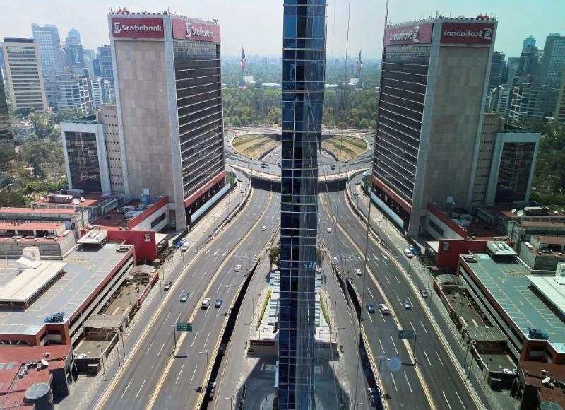 A general view shows an almost empty Periferico after the local government asked residents to stay at home as part of the measures against the spread of the coronavirus disease (COVID-19), in Mexico City