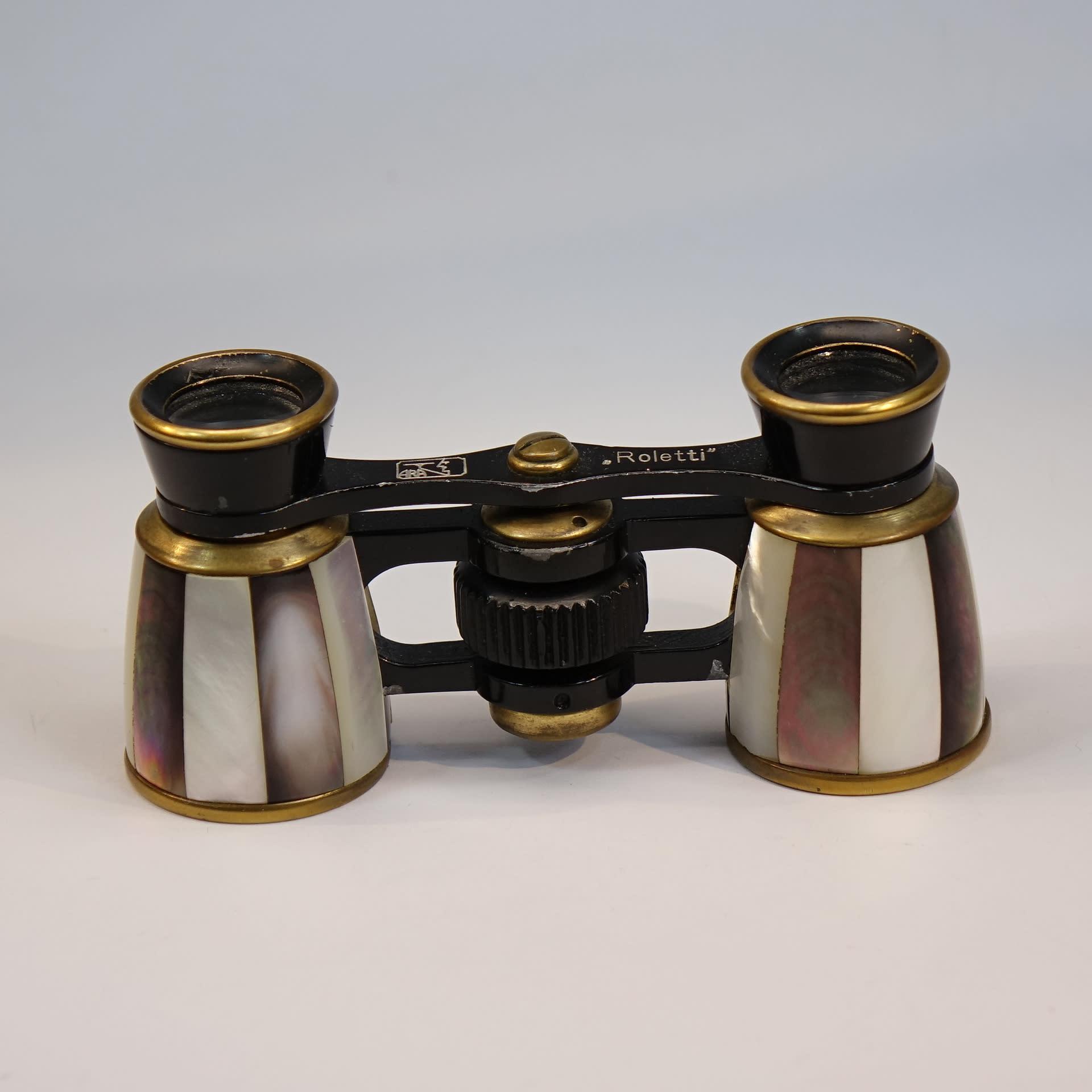 義大利母貝紫貝古董歌劇望遠鏡