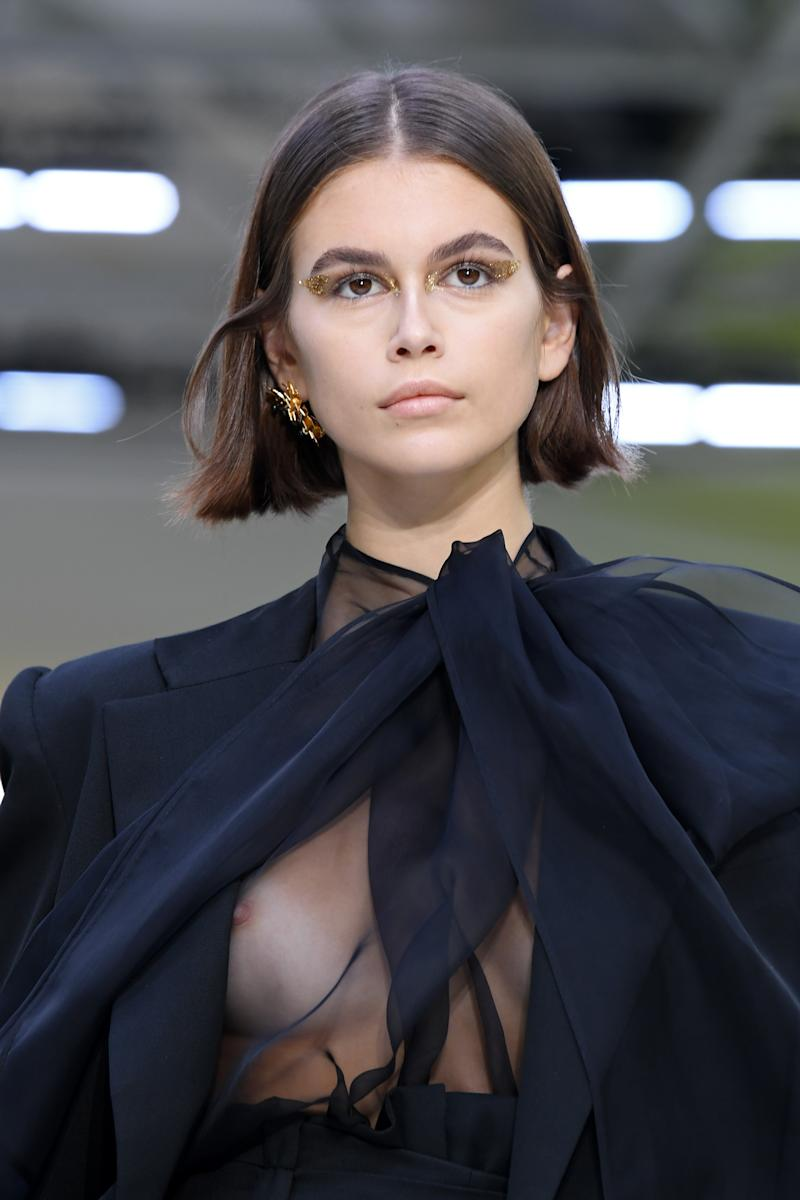 Kaia Gerber walks the runway during the Valentino Womenswear Spring/Summer 2020 show as part of Paris Fashion Week
