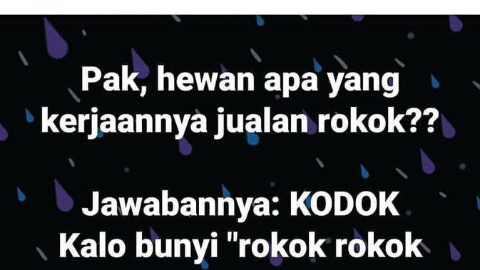 Status Facebook Tebak-Tebakan ala Bapak-Bapak (Sumber: