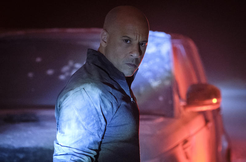 """This image released by Columbia Pictures shows Vin Diesel in a scene from """"Bloodshot."""" (Graham Bartholomew/Sony/Columbia Pictures via AP)"""