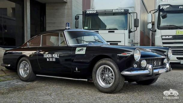 Ferrari's most famous police car cruised Rome in the 1960s
