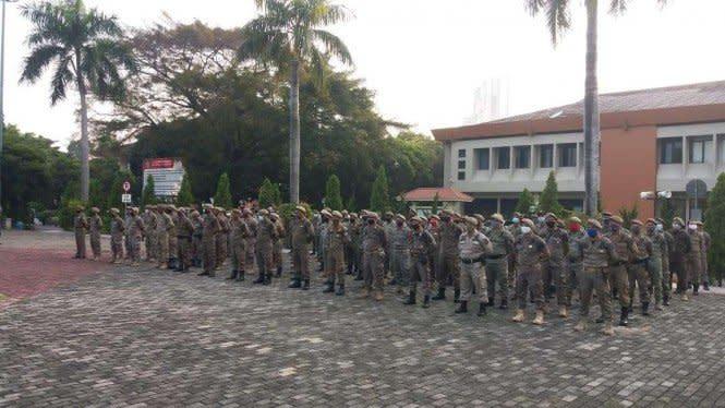 Aksi Demo 1310 Tolak Omnibus Law, Pintu Masuk Jakarta Dijaga Ketat
